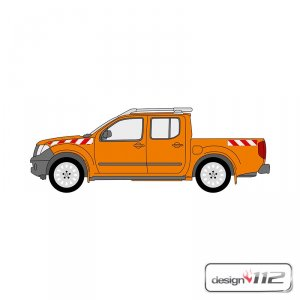 Warnmarkierungssatz Nissan Navara Pick-Up, 2007 - 2015